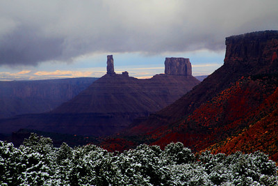 View from La Sal Mountains after early snow