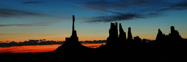 Totems at Sunrise