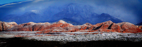 Snow on Red Rock