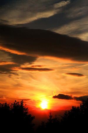 Sunset in Slovakia