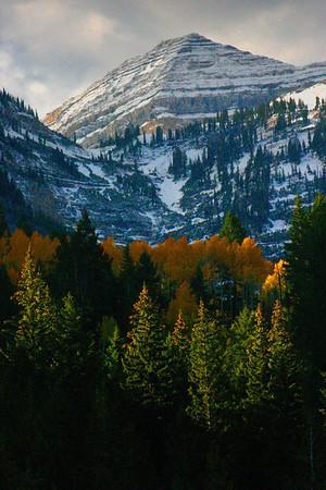 Alpine Loop in the fall near Salt Lake City, Utah