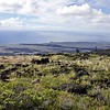 From the Chain of Craters Road in Hawai'i Volcanoes National Park the flows from several eruptions can be clearly seen.