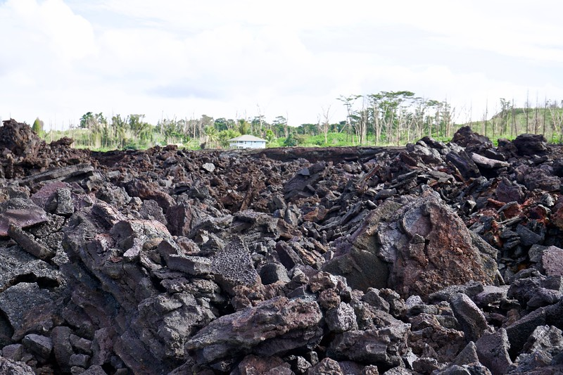 The 2018 flow of lava covered 14 acres of land near the Pahola-Kapoho road to the coast.