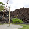 The lava stopped at the picnic tables and outdoor showers.