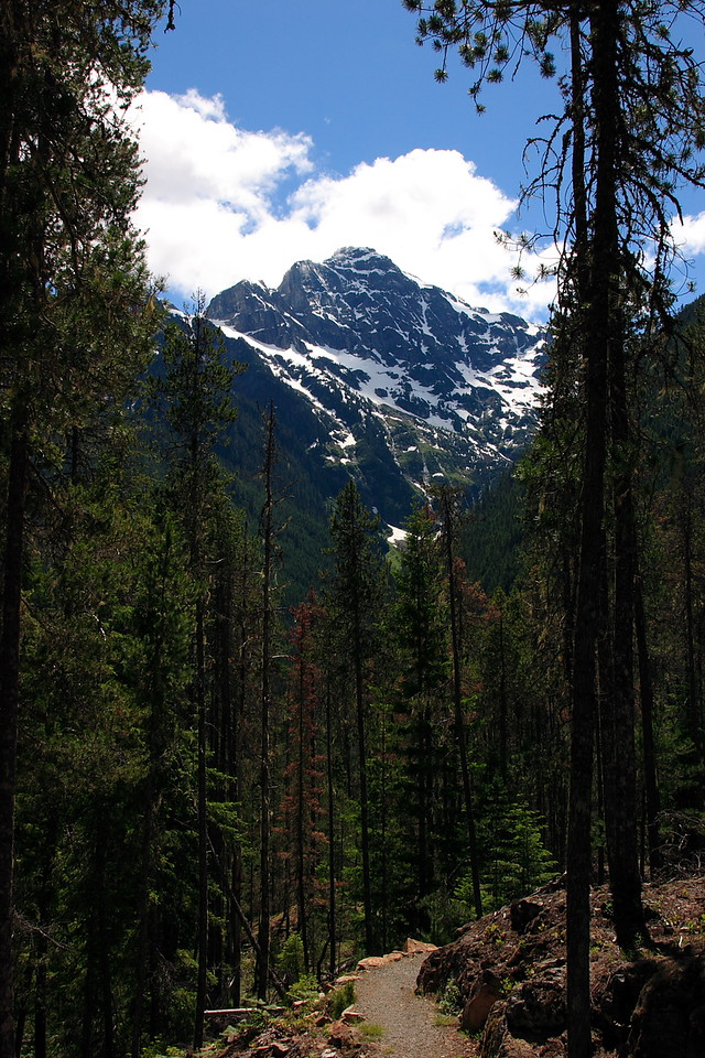Thunder Knob Trail with nice view of Colonial Glacier