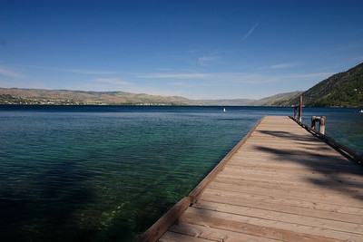 Chelan lake from beach park...