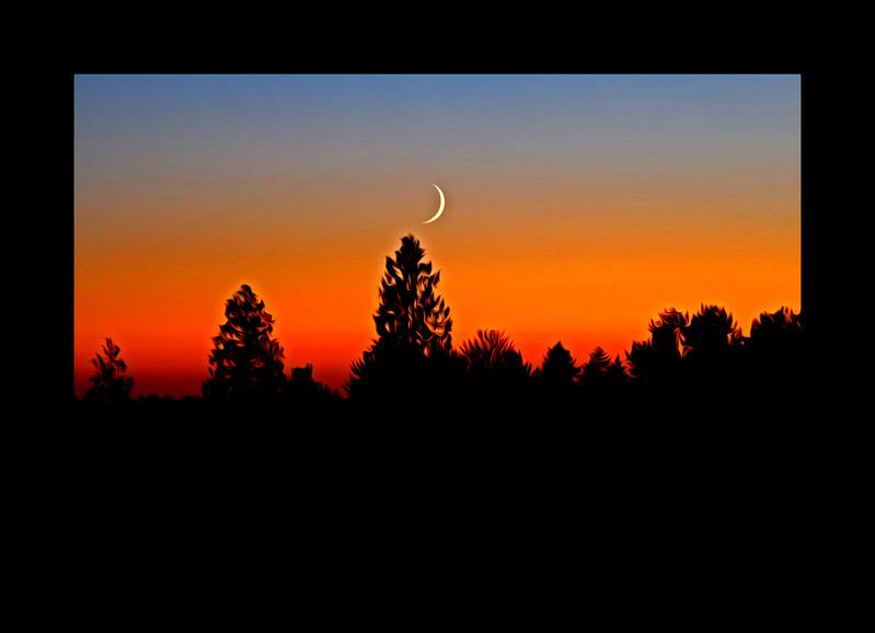 Crescent Sunset, Auburn Wa, 10x15 only, $200.