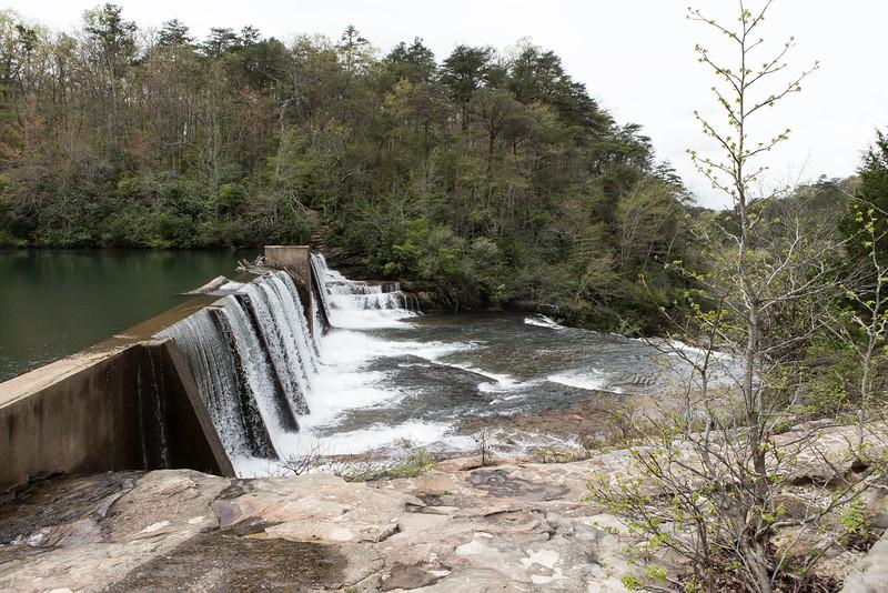 Desoto Falls ,northeast of Fort Payne, Alabama;
