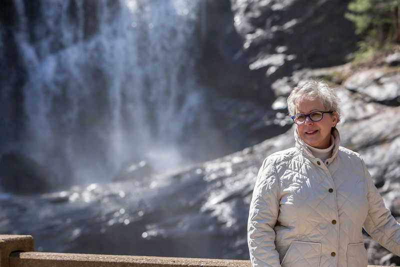 Tellico Plans :  Cathy  at Bald river Falls.