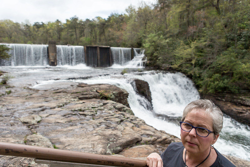 Cathy, Desoto Falls ,northeast of Fort Payne, Alabama;