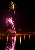 A short, unexpected fireworks display over the Tempe Town Lake.