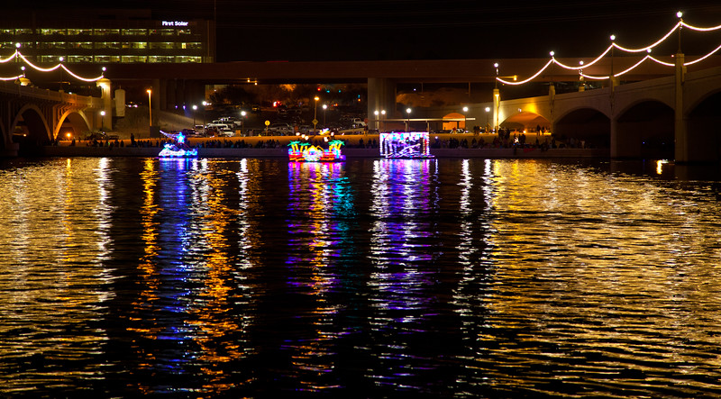 The 2012 Boat Parade on Tempe Town Lake