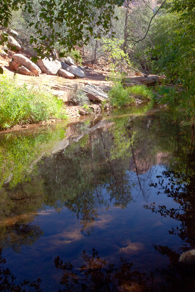I enjoy hiking along Oak Creek.  This scene was approaching Sedona.