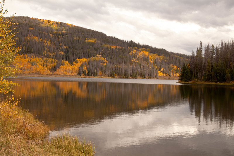 Pearl Lake, a large lake North of Steamboat Springs, Colorado.  I wished I had a boat for this lake.