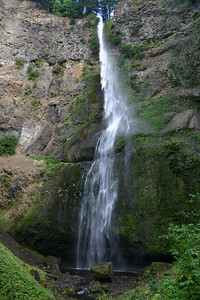 Waterfalls of the Columbia River Gorge, Oregon:  Multnomah Falls