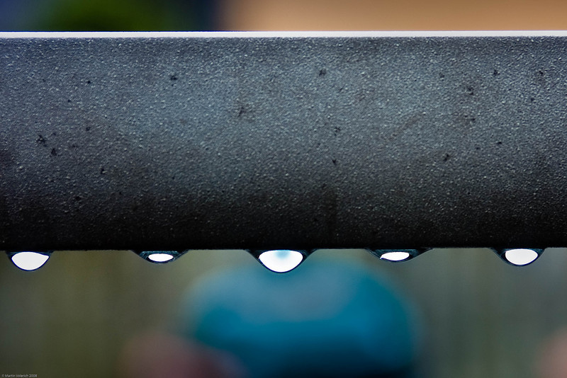 Water Drops on Back Yard Table