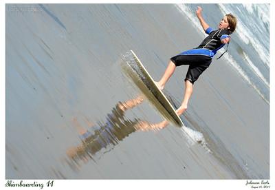 Skimboarding 11  http://en.wikipedia.org/wiki/Skimboarding  Pacifica State Beach, Pacifica, 14 Aug 2011