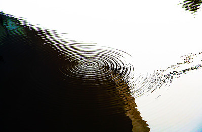 Surface tension waves on water