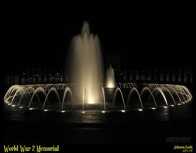 World War 2 Memorial  National Mall, Washington DC, 16 July 2011