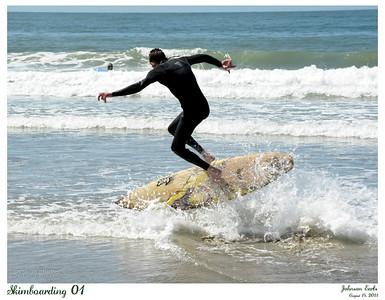Skimboarding 01  http://en.wikipedia.org/wiki/Skimboarding  Pacifica State Beach, Pacifica, 14 Aug 2011
