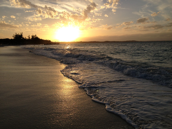 Turks and Caicos sunset on the beach