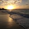 Turks and Caicos sunset on the beach