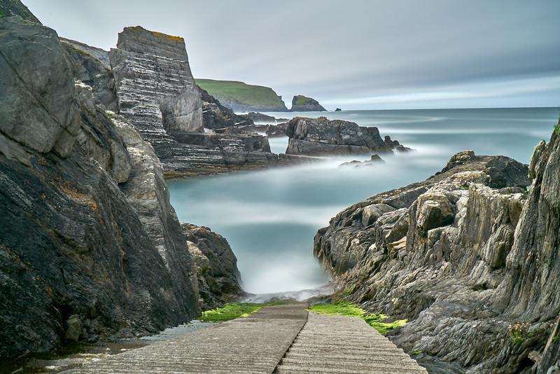 Boat ramp at Three Castle Head, West Cork Ireland