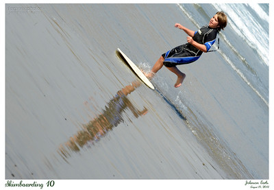 Skimboarding 10  http://en.wikipedia.org/wiki/Skimboarding  Pacifica State Beach, Pacifica, 14 Aug 2011