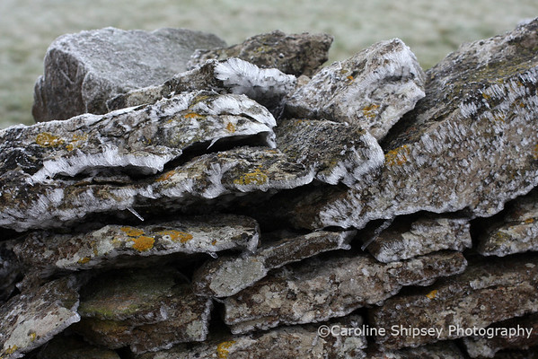 Ice on Stone Wall