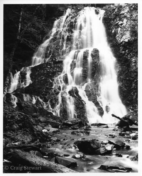 Hayes Falls, Maliseet Trail, Carleton County NB<br /> Medium: Kentmere VC Select  (grade 3 filter)<br /> Print exposure time: 12 sec<br /> Lens: Wollensak @ f22<br /> Enlarged 2:1