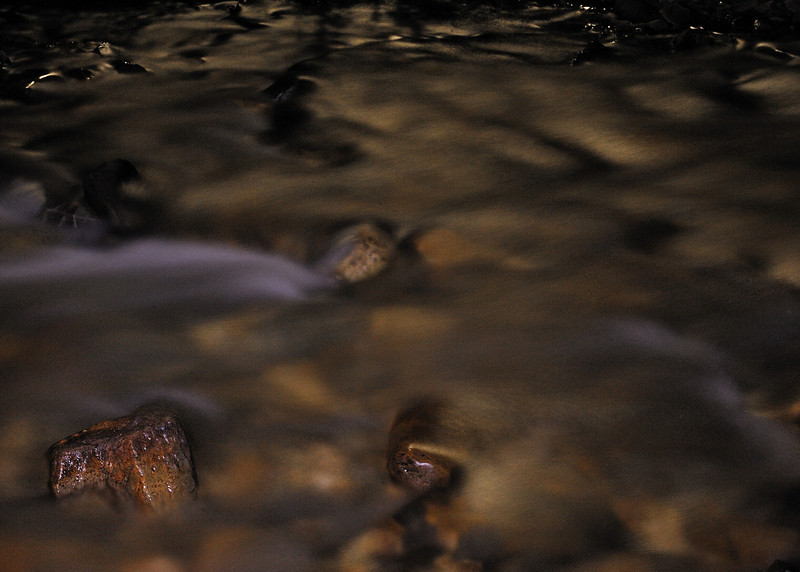 Mineral Creek, north of Silverton CO, September 2011.  Stream was illuminated by moonglow.