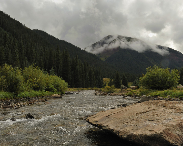 Mineral Creek with Bear Mountain in the background, Silverton Colorado.