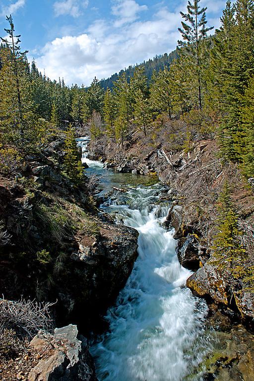 Upstream from Tumalo Falls, Oregon
