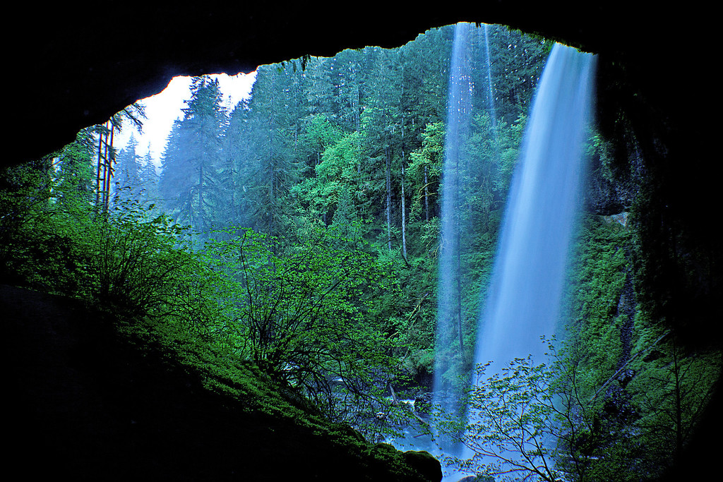 Behind North Falls, Silver Falls State Park, Oregon
