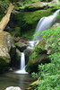 Photo taken 05-13-2005.  Small waterfall near Grotto Falls, Roaring Fork Motor Trail, near Gatlinburg, Tennessee.