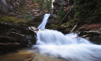 Mineral Creek waterfall near Silverton Colorado