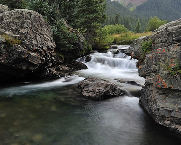 Falls above Golden Horn, Silverton CO, September 2011