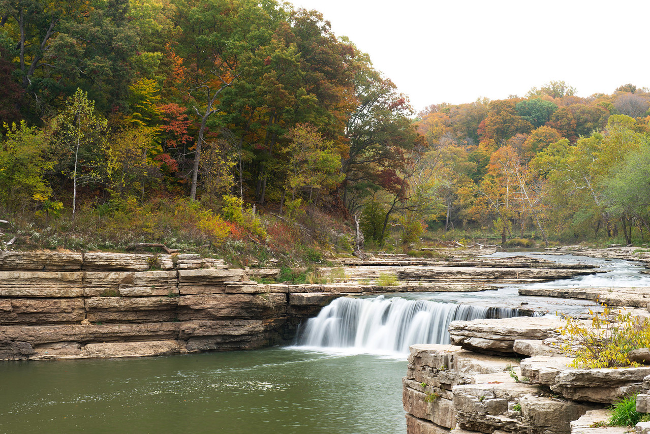 Lower Cataract Falls.  These falls along with Upper Cataract Falls are the largest falls by volume in Indiana.