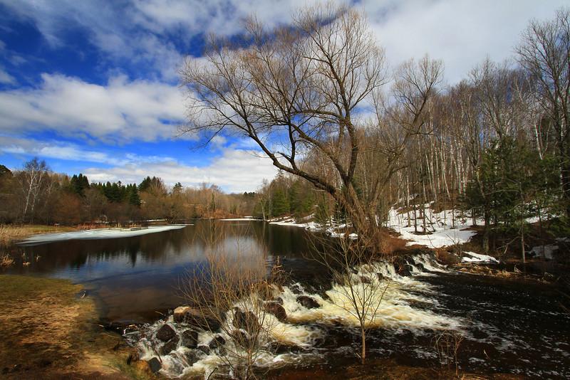 """Spring at Presque Isle Falls"""