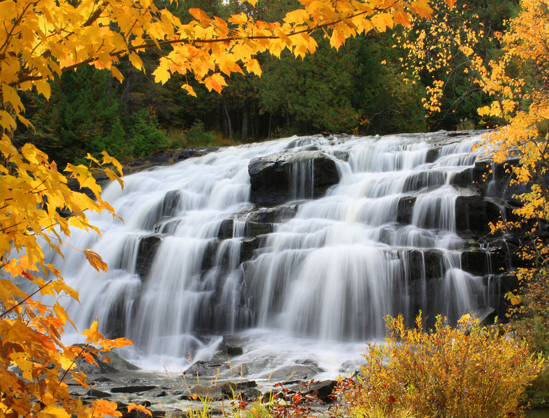 """ Bond Falls in the Fall ""  Bond Falls Paulding Michigan"