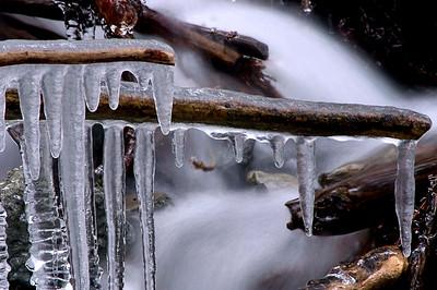 Icicles at Bridal Falls