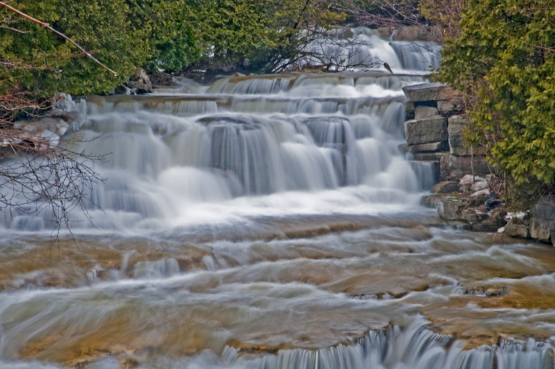 Stockbridge Falls in Madison County New York.