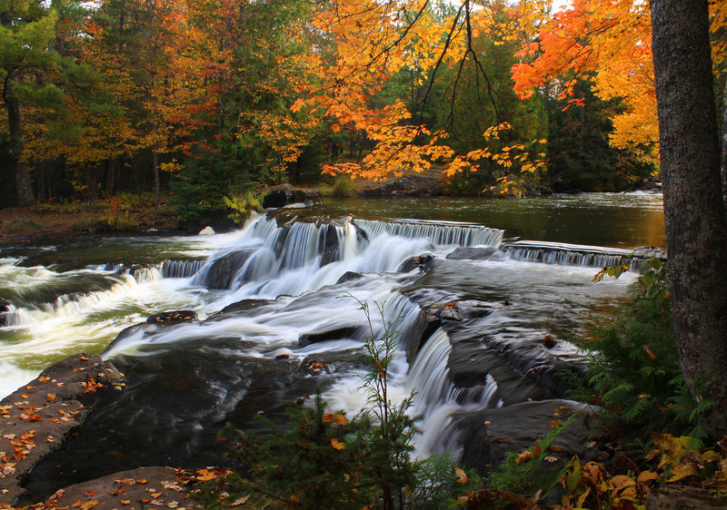 """ Bond Falls in the Fall "" 3 Bond Falls Paulding Michigan"