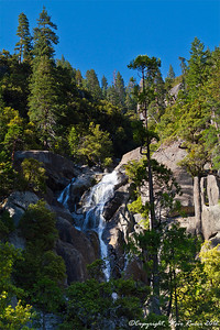 The upper part of Cascade Falls, Yosemite National Park - California