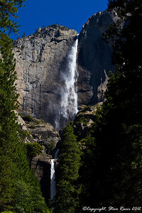 Upper & Lower Yosemite Falls, Yosemite National Park - California.