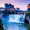 Rochester Upper Falls n Skyline  NY