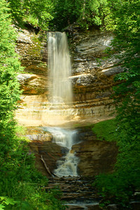 Munising Falls Pictured Rocks National Lakeshore Munising, Michigan
