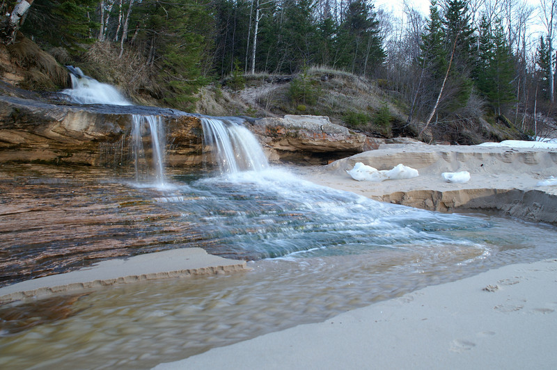 Elliot Creek Falls,<br /> Miners Beach<br /> Pictured Rocks National Lakeshore