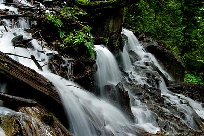 Bridal Falls slow moving water