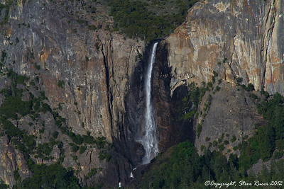 Bridalveil Fall from Tunnel View in Yosemite National Park - California.